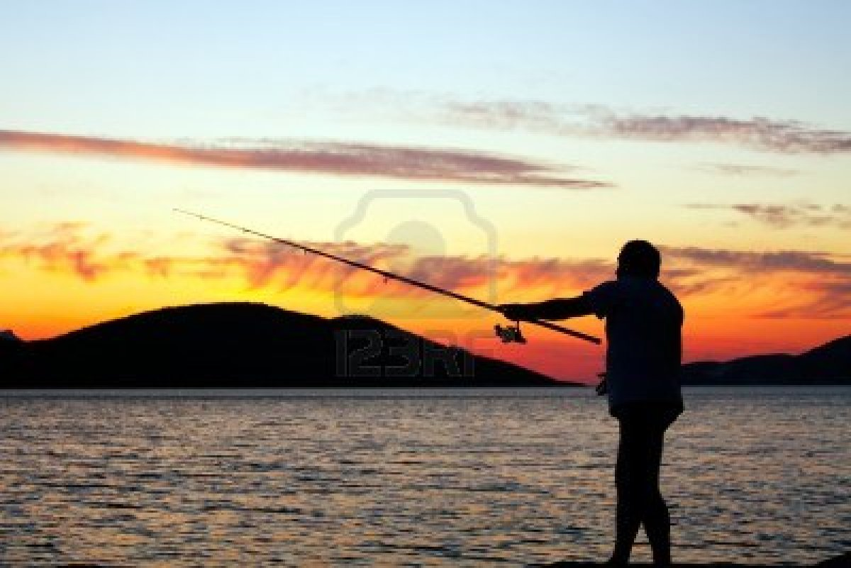 фото рыбалок на закате